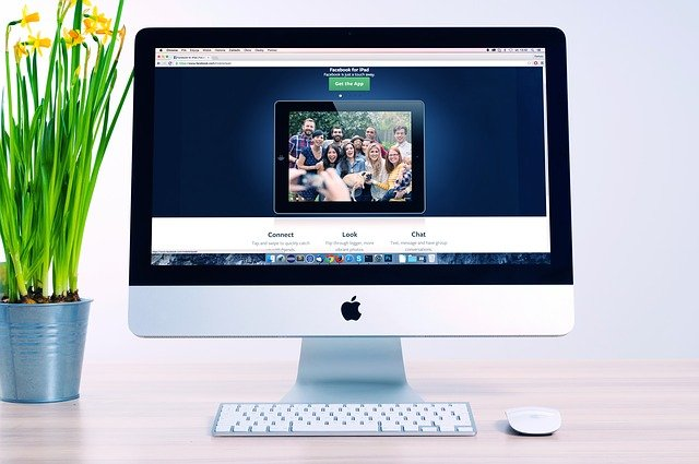 The homepage of a website on a desktop computer with an inbound marketing strategy